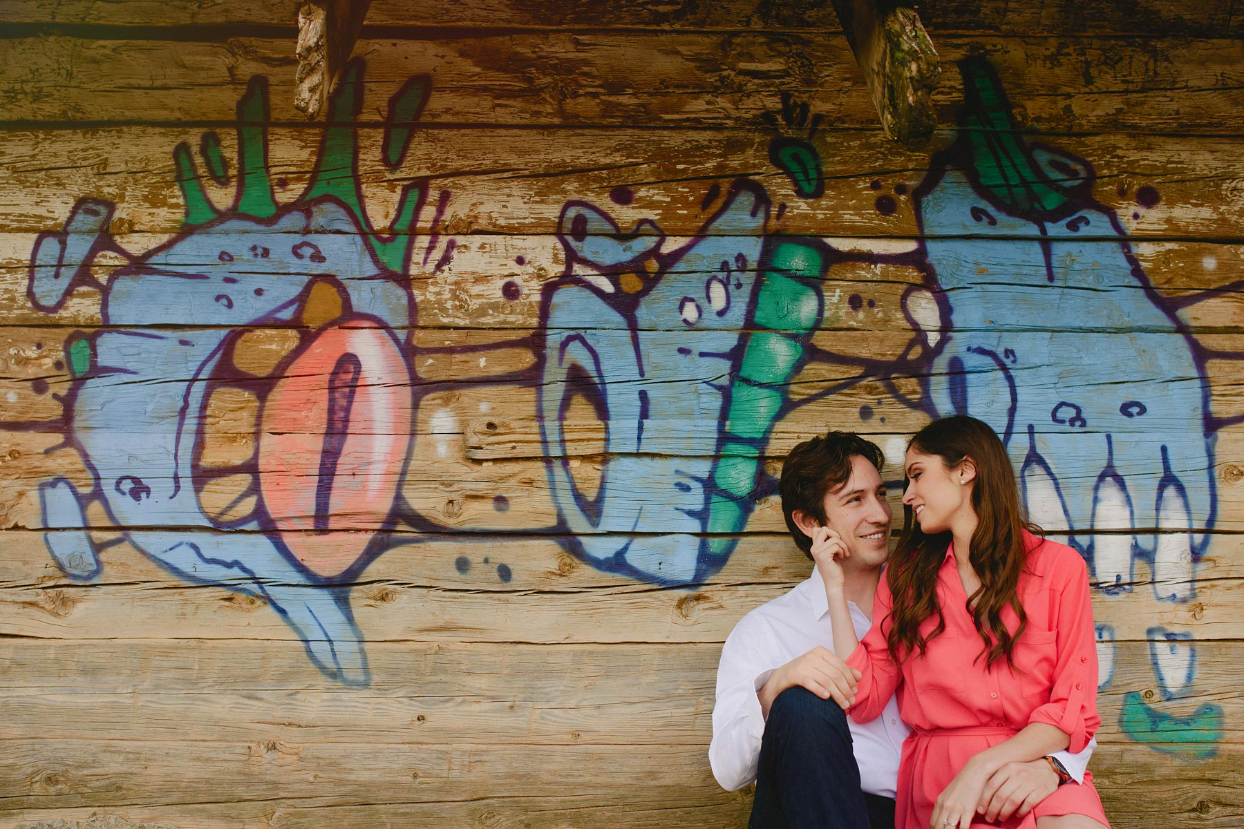 romantic engagement session in mexico