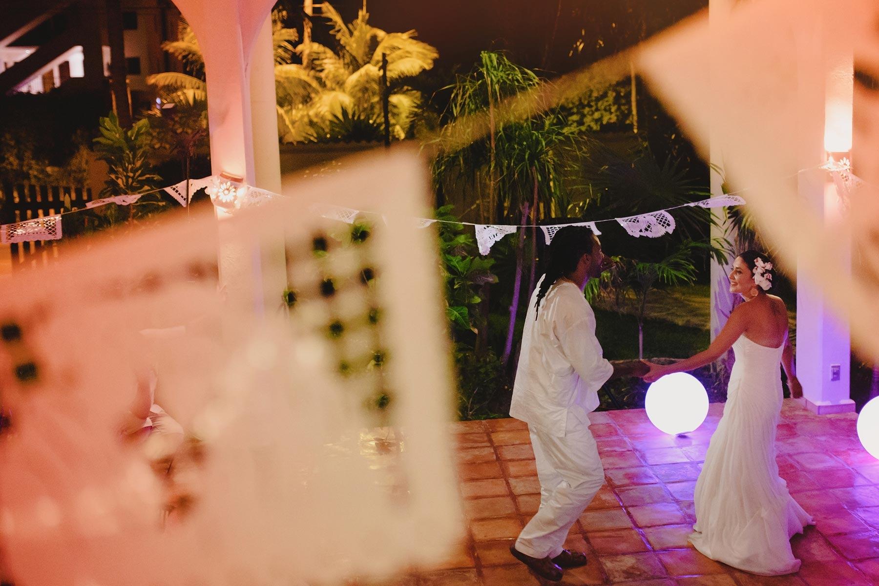 bride and groom first dance riviera maya