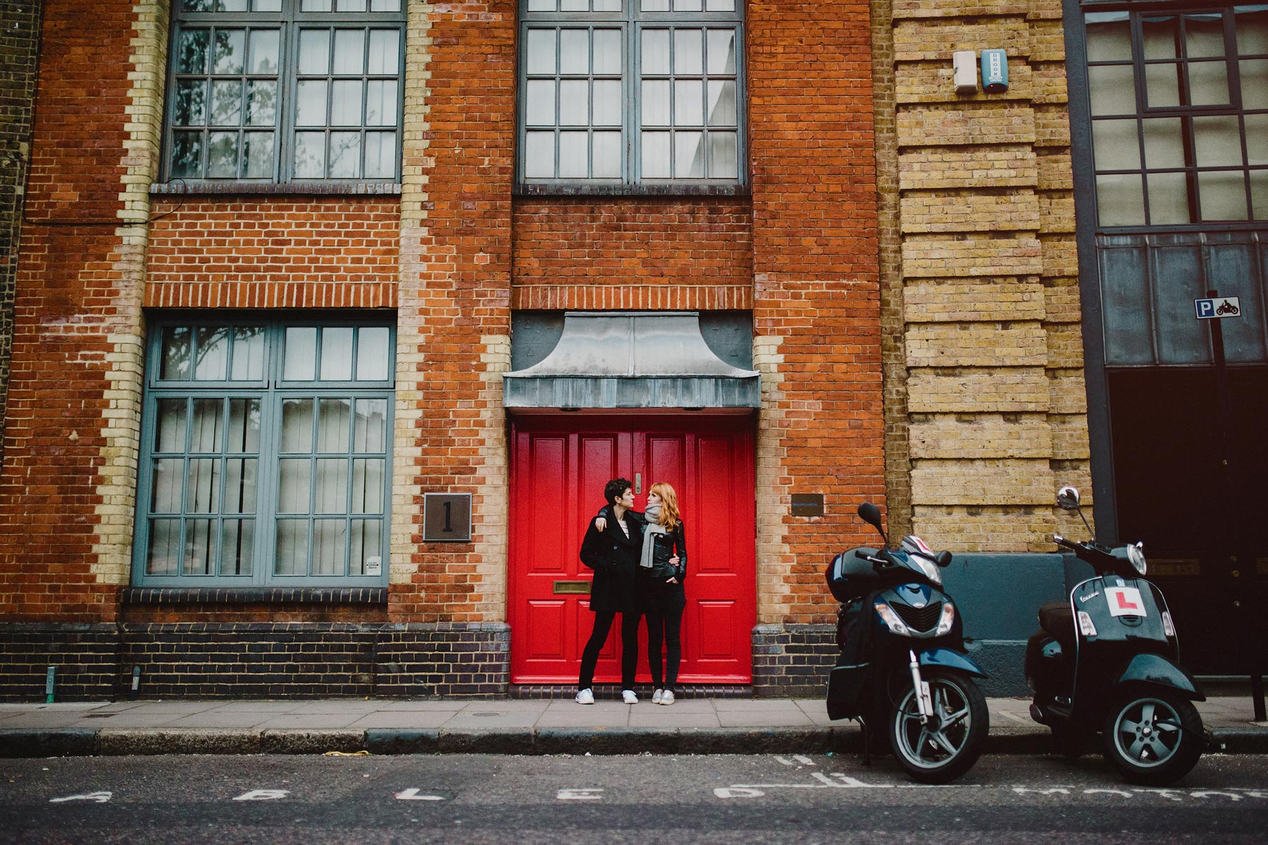 couple in london street