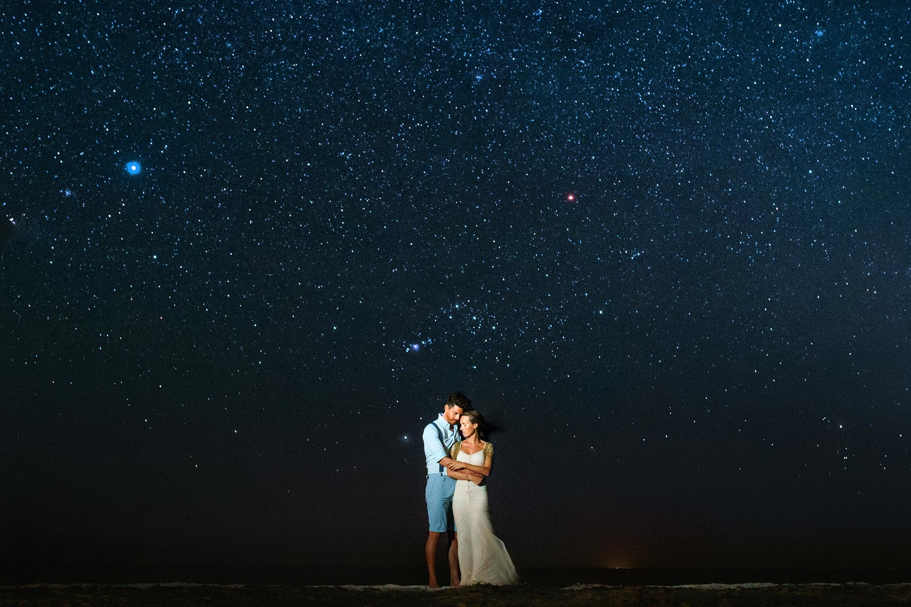 stars in holbox, wedding photographer