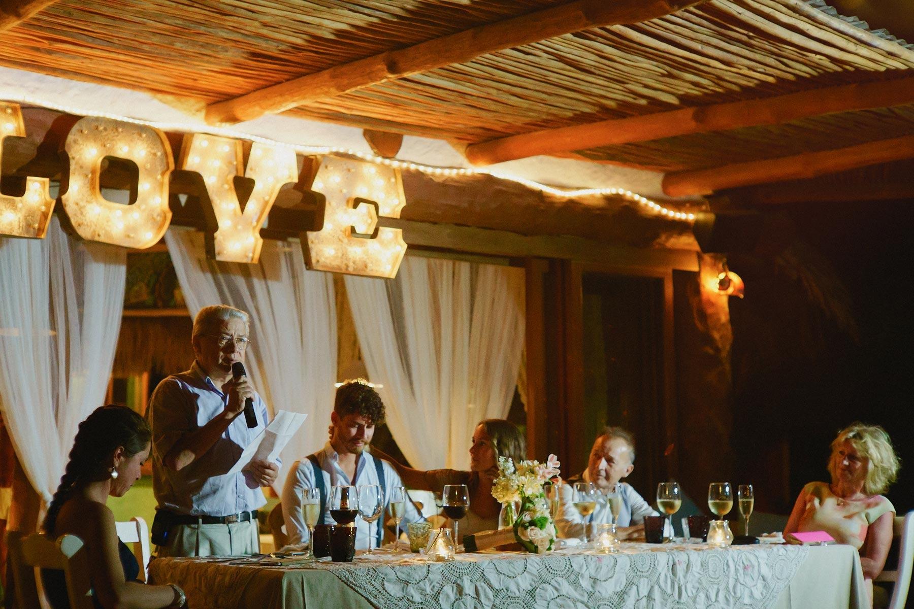 wedding speech, holbox mexico