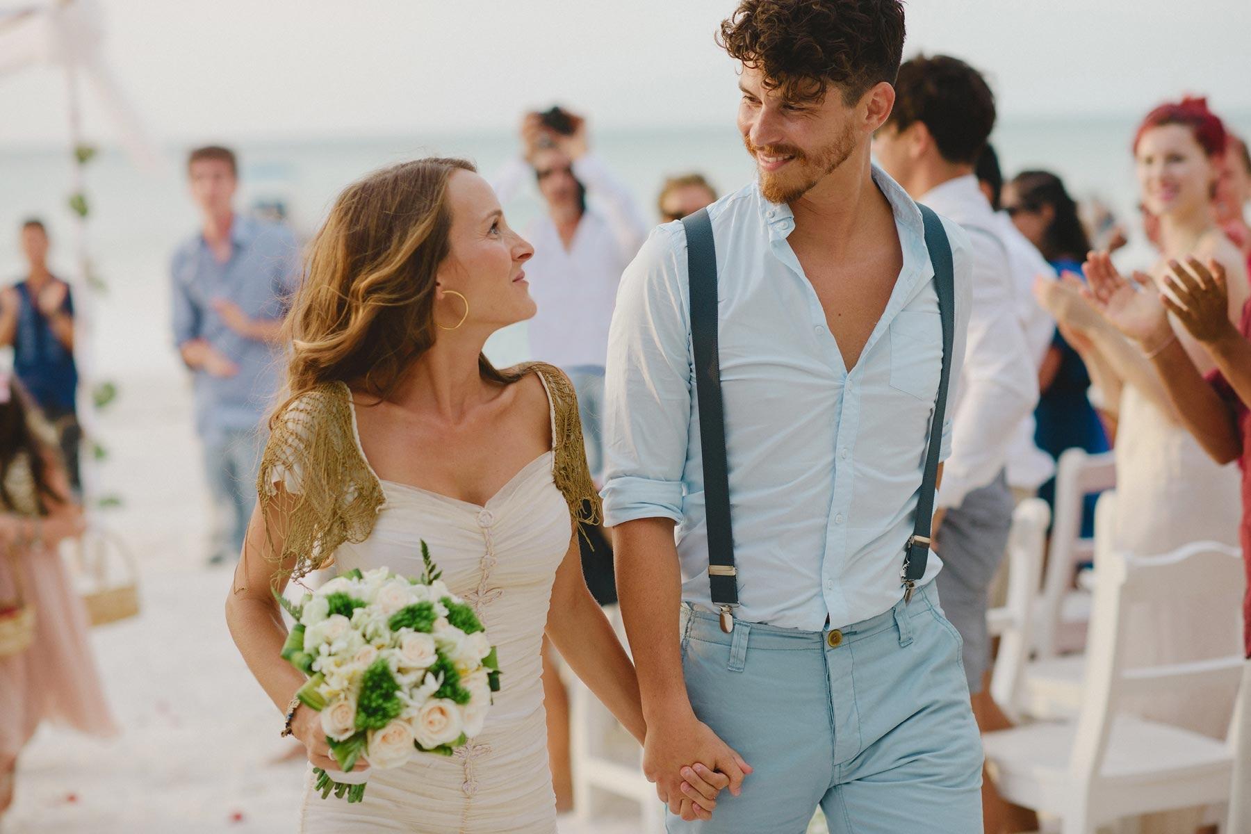 bride and groom, holbox wedding