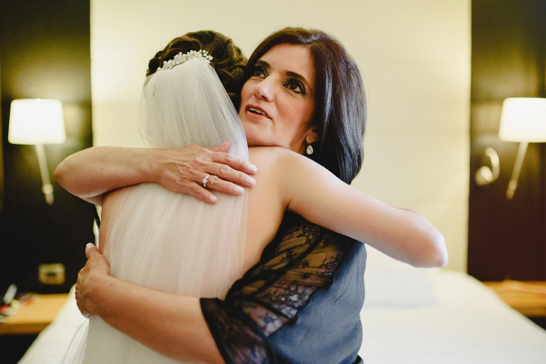 la novia y su mama