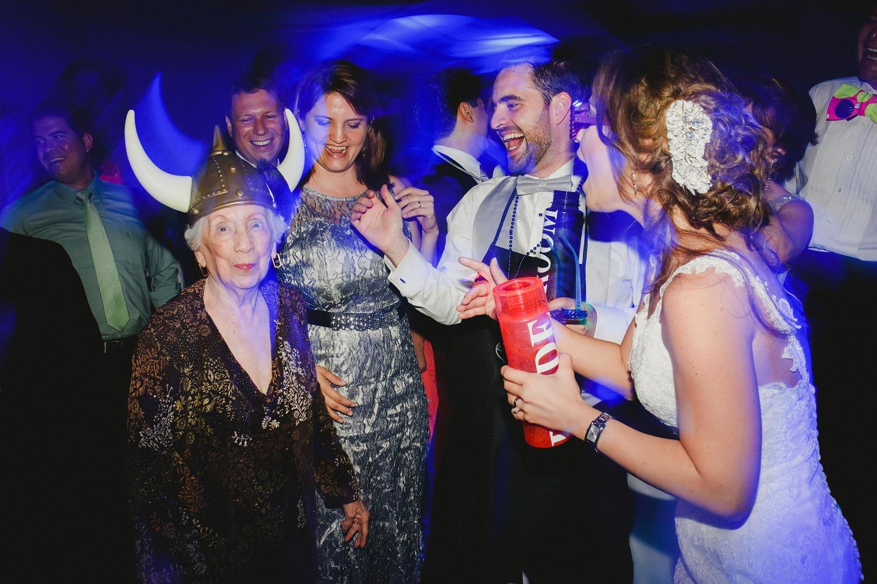 grandma at wedding party