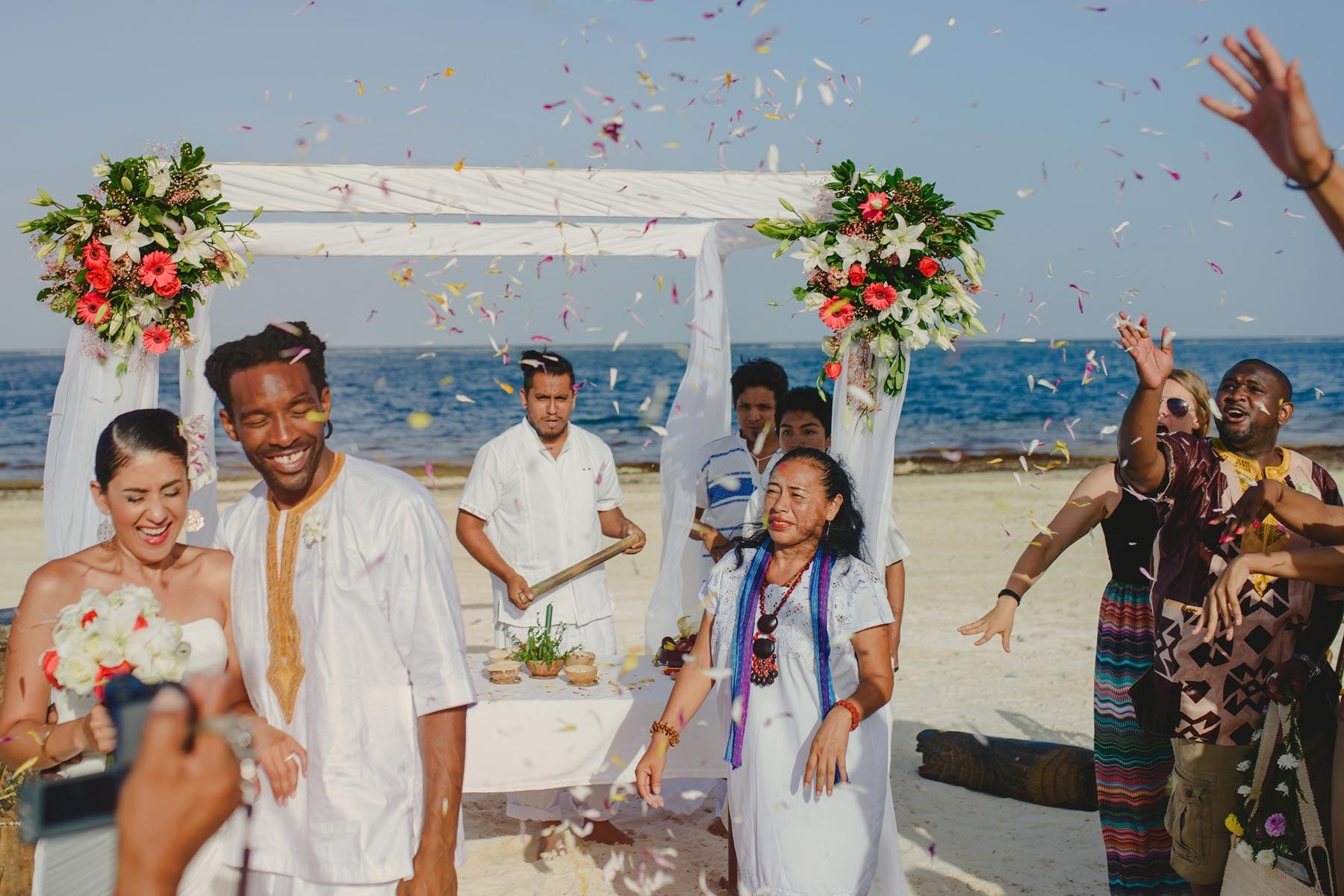 mayan wedding puerto morelos